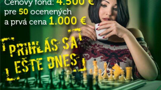 MAJSTROVSTVÁ SLOVENSKA v šachu amatérov – rating do 2199 (CENOVÝ FOND vo výške 4.500 € a prvá cena 1.000 €)